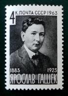 JAROSLAV HASEK ECRIVAIN TCHEQUE 1963 - NEUF ** - YT 2666 - MI 2757 - 1923-1991 URSS
