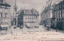 Lausanne La Poste, Attelages Et Tram (360) - VD Vaud