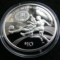 British Virgin Isl. 10 $ 2004 World Football Cup Soccer 2006 Silver - Britse Maagdeneilanden