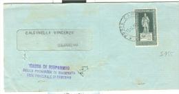 STORIA POSTALE, CORTE DEI CONTI   £.30, S 955, ISOLATO IN TARIFFA  BIGLIETTO POSTALE PRIVATO , 1963, PER  CAMERINO - 6. 1946-.. Repubblica