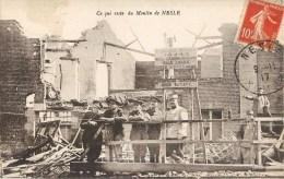 NESLE LE MOULIN APRES LE BOMBARDEMENT GUERRE SOLDAT 80 SOMME - Nesle