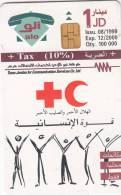 JORDAN - Red Cross, 08/99, used