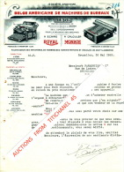 Lettre Illustrée 1922 - LIEGE - BRUXELLES - Soc. An. BELGE AMERICAINE DE MACHINES DE BUREAUX - Machines à écrire ROYAL - Belgique