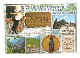 Chemin De Saint Jacques De Compostelle.   Via  Podiensis.   GR65 Hte Loire, Cantal, Lozere, Aveyron - Christentum