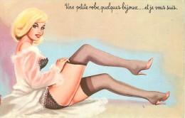 Humour Ereissac Femme Pin Up Petite Tenue Bas Une Petite Robe, Quelques Bijoux ... Et Je Vous Suis N° 1914 - Illustrateurs & Photographes
