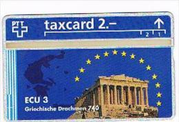 SVIZZERA (SWITZERLAND) - PTT  (L&G) - 1993 ECU 3 GREECE ( TIRAGE 5000)  - MINT -  RIF. 4073 - Svizzera