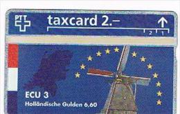 SVIZZERA (SWITZERLAND) - PTT  (L&G) - 1993 ECU 3 NEDERLAND ( TIRAGE 5000)  - MINT  -  RIF. 4074 - Svizzera