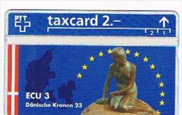 SVIZZERA (SWITZERLAND) - PTT  (L&G) - 1993 ECU 3 DANMARKL    - MINT  -  RIF. 4072 - Svizzera