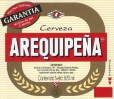 Lote EP12, Peru, Beer Label, Cerveza Ariquipeña, 620, Etikett, Etiqueta De Cerveza - Bière