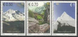 KOS 2013- SAVE NATURE MOUNTIN, KOSOVO, 1 X 3v, MNH - Umweltschutz Und Klima