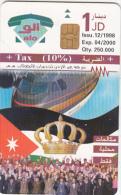 JORDAN - The Royal Crown 1, Airplane, chip Siemens 35, 12/98, used