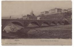 Digne - 04 - Grand Pont Et Nouvel Hôpital - Cpa Papier Glacé , Voyagée En 1915 , Digne Imp Constant Et Davin - Digne