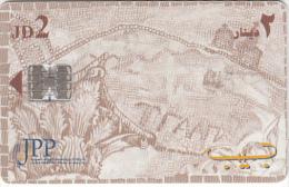 JORDAN(chip) - Madaba mosaic/Millennium 1, JPP telecard, 07/00, used