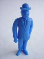 FIGURINE PUBLICITAIRE ESSO Belge Monochrome Bleu -Tintin - DUPOND Canne Main Droite (1) - Tintin