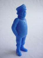 FIGURINE PUBLICITAIRE ESSO Belge Monochrome Bleu -Tintin - HOMME DE MAIN Bandit CAPITAINE DU SOUS MARIN - Tintin