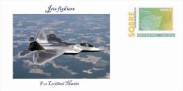Spain 2013 - Fighter Jets Postal Collection -  Lockheed Martin F-22 Special Prepaid Cover - 1946-....: Moderne