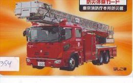 Télécarte JAPON * Pompiers Feuerwehr (354) PHONECARD JAPAN * Fire Brigade  Brandweer Brigada De Fuego Vigili Del Fuoco - Firemen