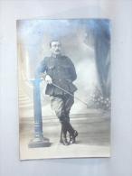 Carte Photo Studio. Militaria. Cavalier. Soldaat. - Krieg, Militär