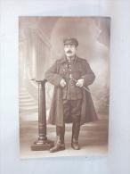 Carte Photo Studio. Militaria. Militaire. Cavalier Avec Cravache. - Guerra, Militari