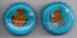 LOTE 2 CHAPAS AQUARADE ESCUDOS FUBTBOL LIGA ESPAÑA - Capsules & Plaques De Muselet