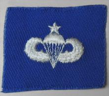 USA - Authentique Patch Senior Parachutist Badge / Royal Blue - Années 50/60 - Ecussons Tissu