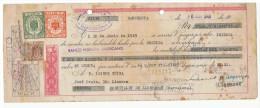 LETRA DE CAMBIO Años 50 Con Sellos Y Timbres - Letras De Cambio