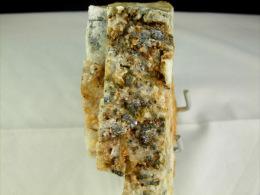 GRAINS DE GALENE SUR QUARTZ  7, X 10, X 2,5  CM  BEDOUES RAVIN DES AGUDES - Minéraux