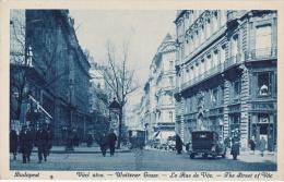 - Budapest- La Rue Vac, 1928, Timbre - Hungary
