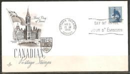 KANADA 1958 - FDC - 1952-1960