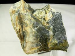 GALENE DANS QUARTZ NOIR (contact) ET BARYTINE  6,5 X 6,5 X   CM  BEDOUES RAVIN DES AGUDES - Minerals