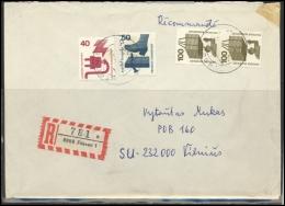 GERMANY Deutschland D BRD Brief 0172 FUSSEN Cancellation Postal History Workers´ Safety - BRD