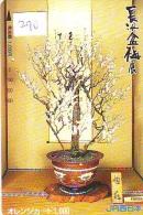 Carte Prépayée  Japon  * Arbre Nain * BONSAI (290)  Dwarf Tree Japan Prepaid Card * Karte Baum * - Fiori