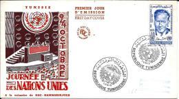 Lettre, TUNISIE, Journée Des Nations Unies : à La Mémoire De Dag Hammarskjold 1961 - Tunisia