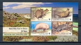 AAT * AUSTRALIA * AUSTRALIAN ANTARCTIC TERRITORY * JOINT ISSUE S/S 4v YEAR 2011 * WWF DUGONG  ELEPHANT SEAL * MNH - W.W.F.