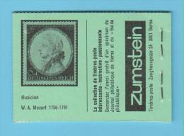CL 4 - Suisse - Compositeur - Mozart - Carnet - Musique