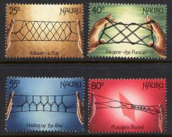 1988 Nauru - Cord Games 4v. Handicrafts, Artifacts, Local Artisanat  Mi.349/52  MNH - Tessili