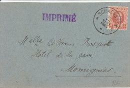Imprimé Parti De Schaerbeek Pour Momignies Type Houyoux 1925 - 1922-1927 Houyoux