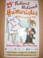 Affiche ROUSSO Festival National Des Humoristes Tournon Sur Rhône 2013 - Plakate & Offsets