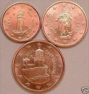 1CENT 2CENT 5CENT 2006 SANT MARIN à PETIT PRIX 3 EURO LES 3 PIECE - San Marino