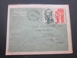 Lettre De Yaoundé Cameroun (ex Colonie Française) Par Avion Afrique équatoriale Française Pr Haguenau Bas-Rhin - Cameroun (1915-1959)
