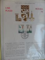 FEUILLET OFFICIEL DU COMITE OLYMPIQUE BELGE / LAKE PLACID - MOCKBA 80 / FDC 4-11-1978 / No 472 SUR 500 - Olympische Spelen