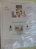 FEUILLET OFFICIEL DU COMITE OLYMPIQUE BELGE / LAKE PLACID - MOCKBA 80  /FDC 4-11-78/ No 478 SUR 500 - Olympische Spelen