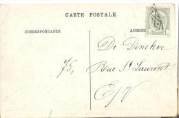 Op920: WENDUYNE - L´EGLISE( KERK):gefrankeerd:N°81-tab:geen Vertrekstempel>E/v..[en Ville] Afgestempeld Met Roulette: - 1893-1907 Wappen