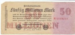 Germany #98a 50,000,000 Marks 1923 Banknote Currency - [ 3] 1918-1933: Weimarrepubliek