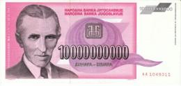 Yugoslavia #127, 10 Billion Dinara 1993 Banknote Currency - Yugoslavia
