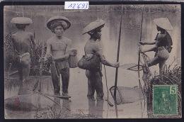 Tonkin :  Hanoï - Pêcheurs Avec Nasses ; Timbre Indochine Française 1908 (12´693) - Viêt-Nam