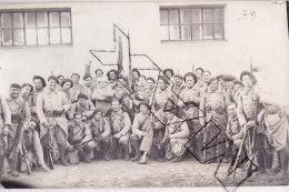 Tyu-    Photo Carte  UN BATAILLON De CHASSEURS  Le 81ème - Weltkrieg 1914-18