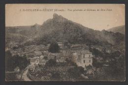 DF / 34 HERAULT / SAINT-GUILHEM-LE-DESERT / VUE GENERALE ET CHATEAU DE DON JUAN - France