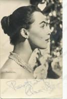 CLAIRE BLOOM - Original Autograph, Signed , Film Actors,  Vintage Old Photo Postcard - Acteurs