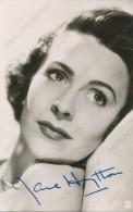 JANE HYLTON -  Autograph, Signed , Film Actors,  Vintage Old Photo Postcard - Acteurs